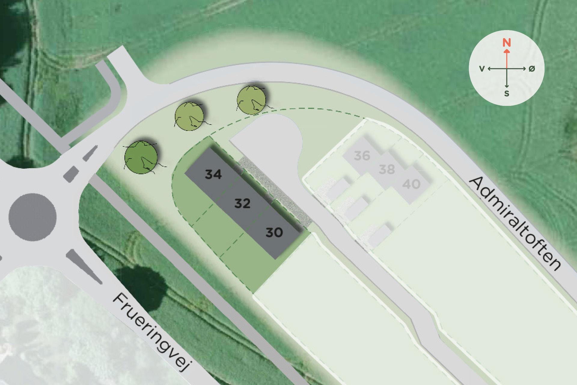 Hybel Projekt - Admiraltoften (106 m² ), Stilling Oversigt