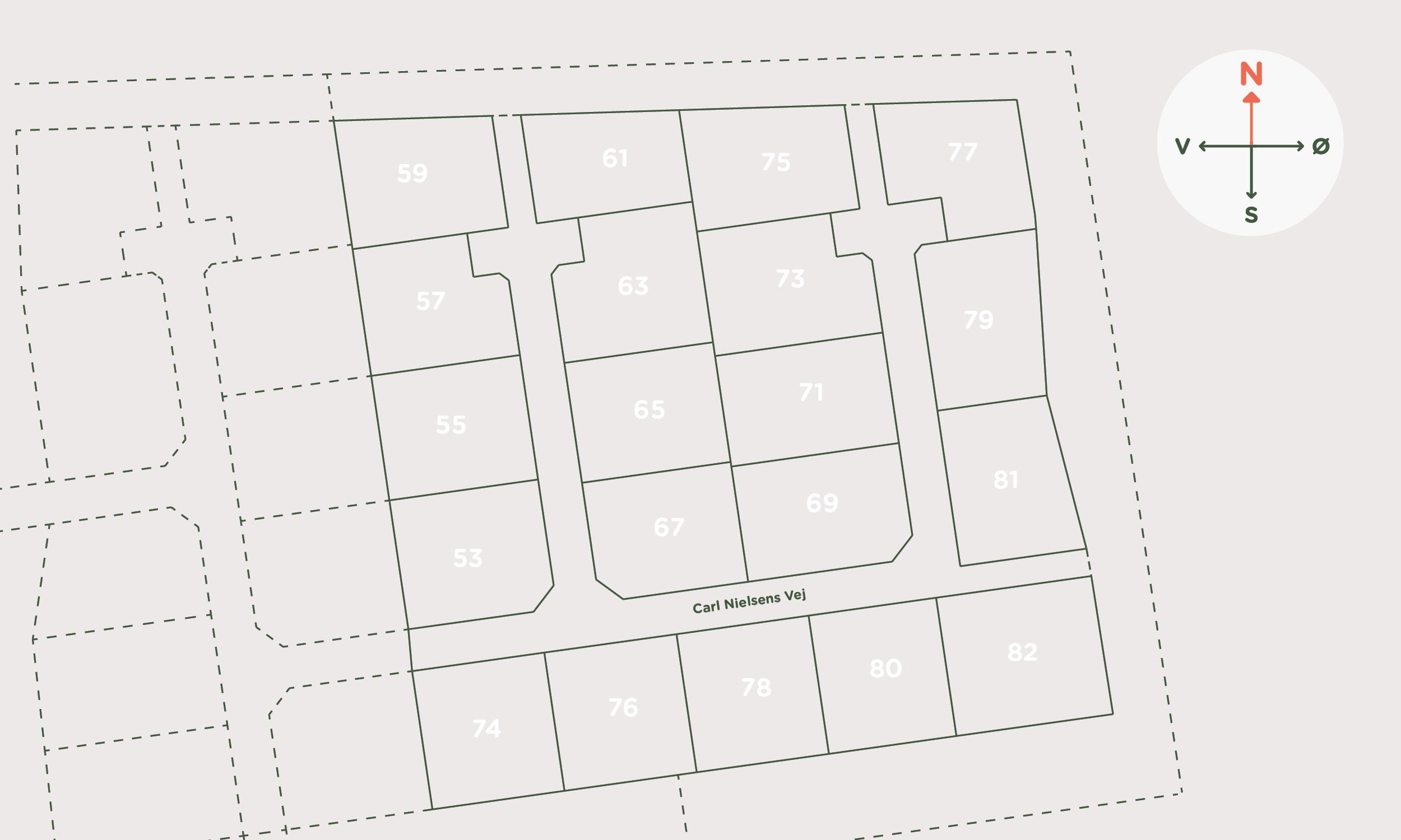 Hybel Projekt - Carl Nielsens Vej, Frejlev Oversigt